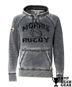 Morris Rugby 40th Anniv. Men's Acid Wash Hoodie