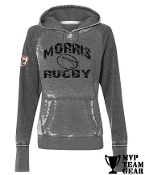 Morris Rugby 40th Anniv. Women's Acid Wash Hoodie